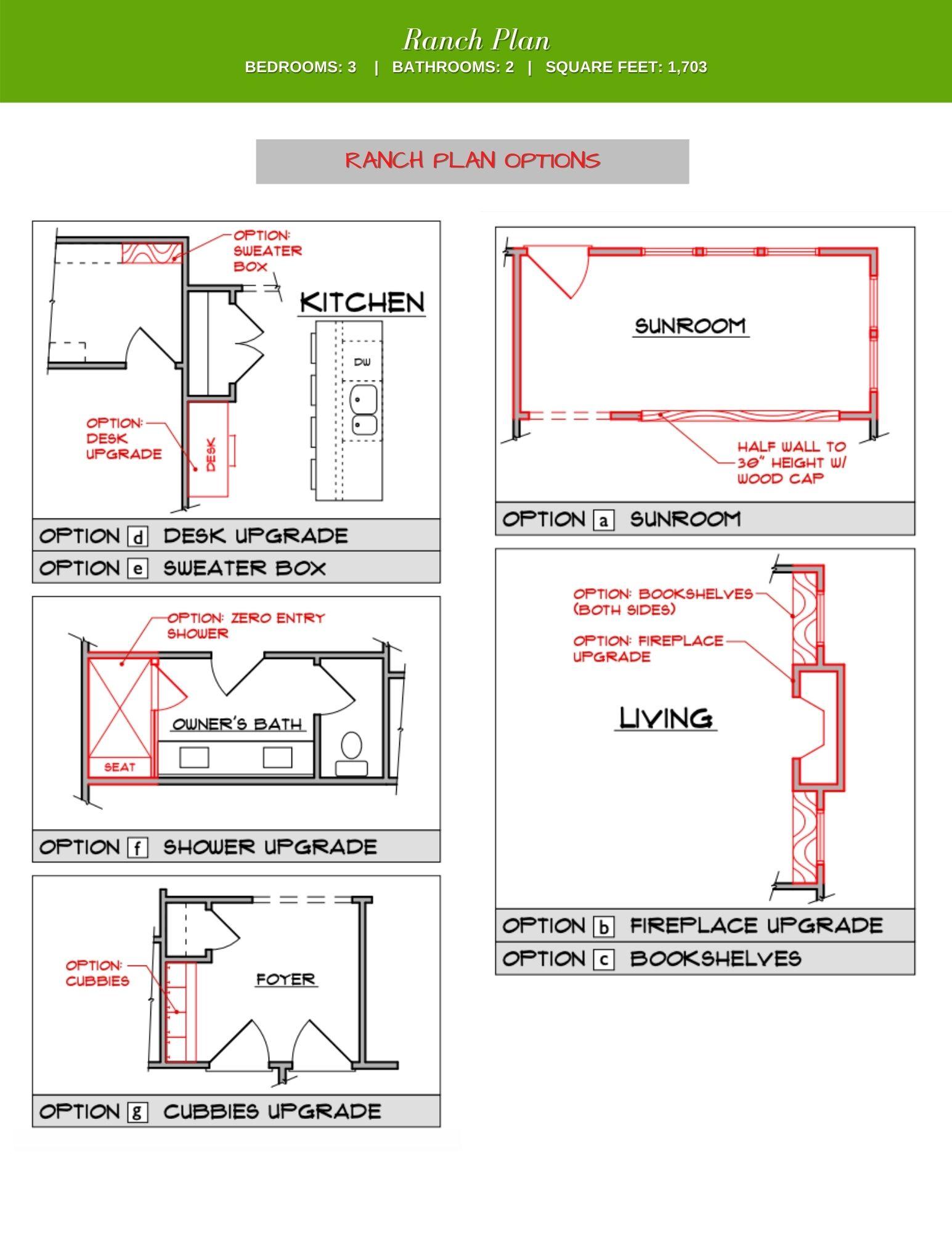 Elm Floor Plan Options