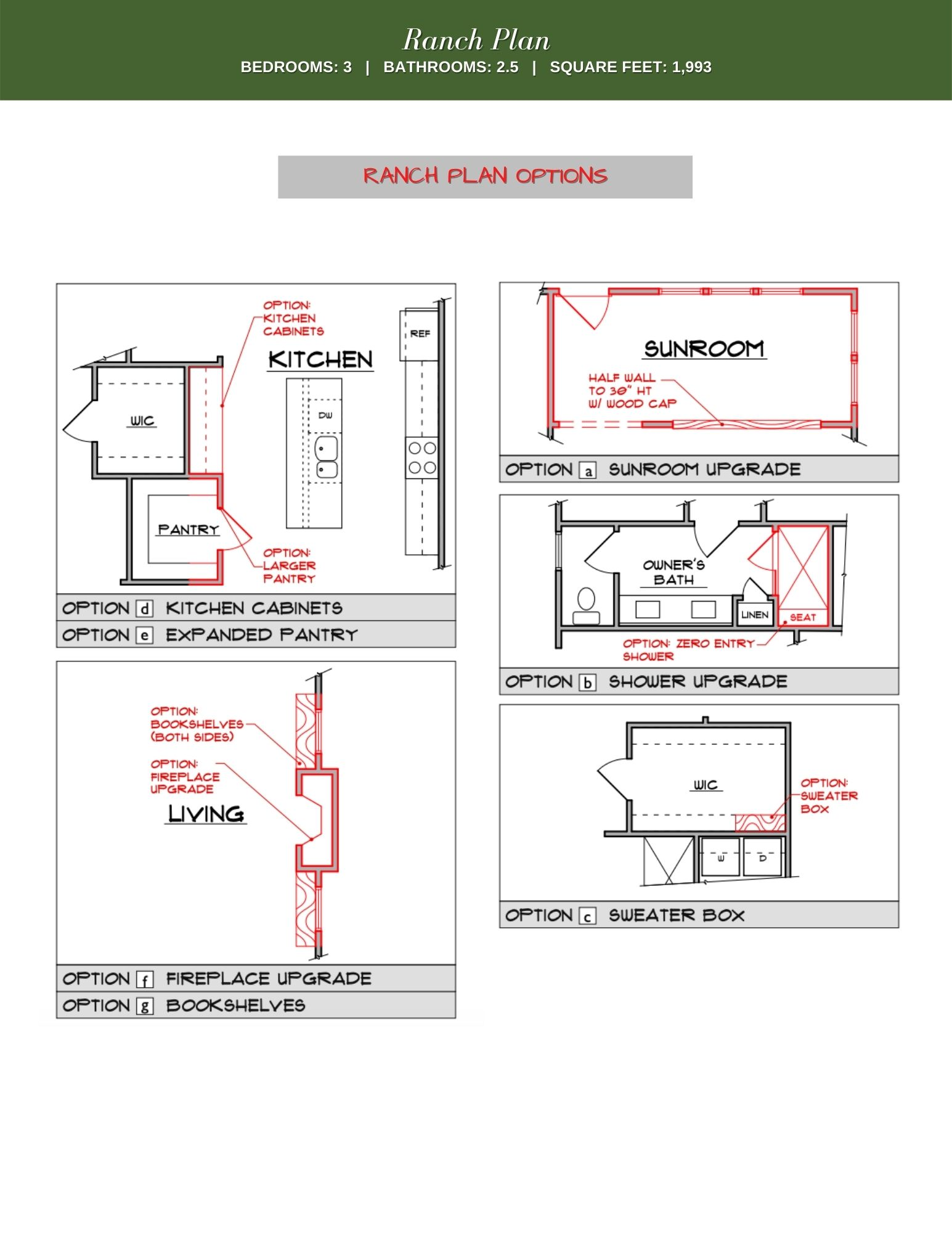 Hickory Floor Plan Options