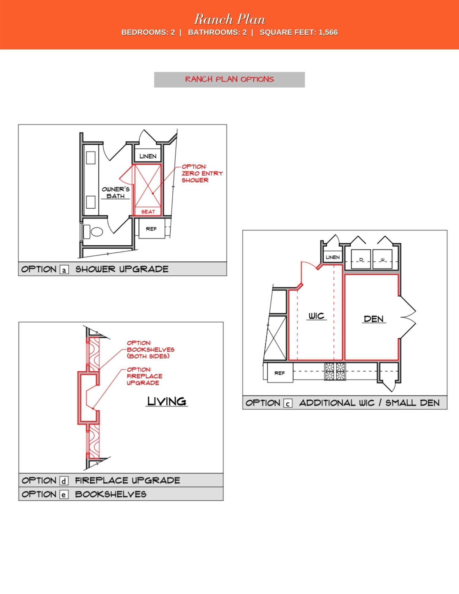 Holly Floor Plan Options
