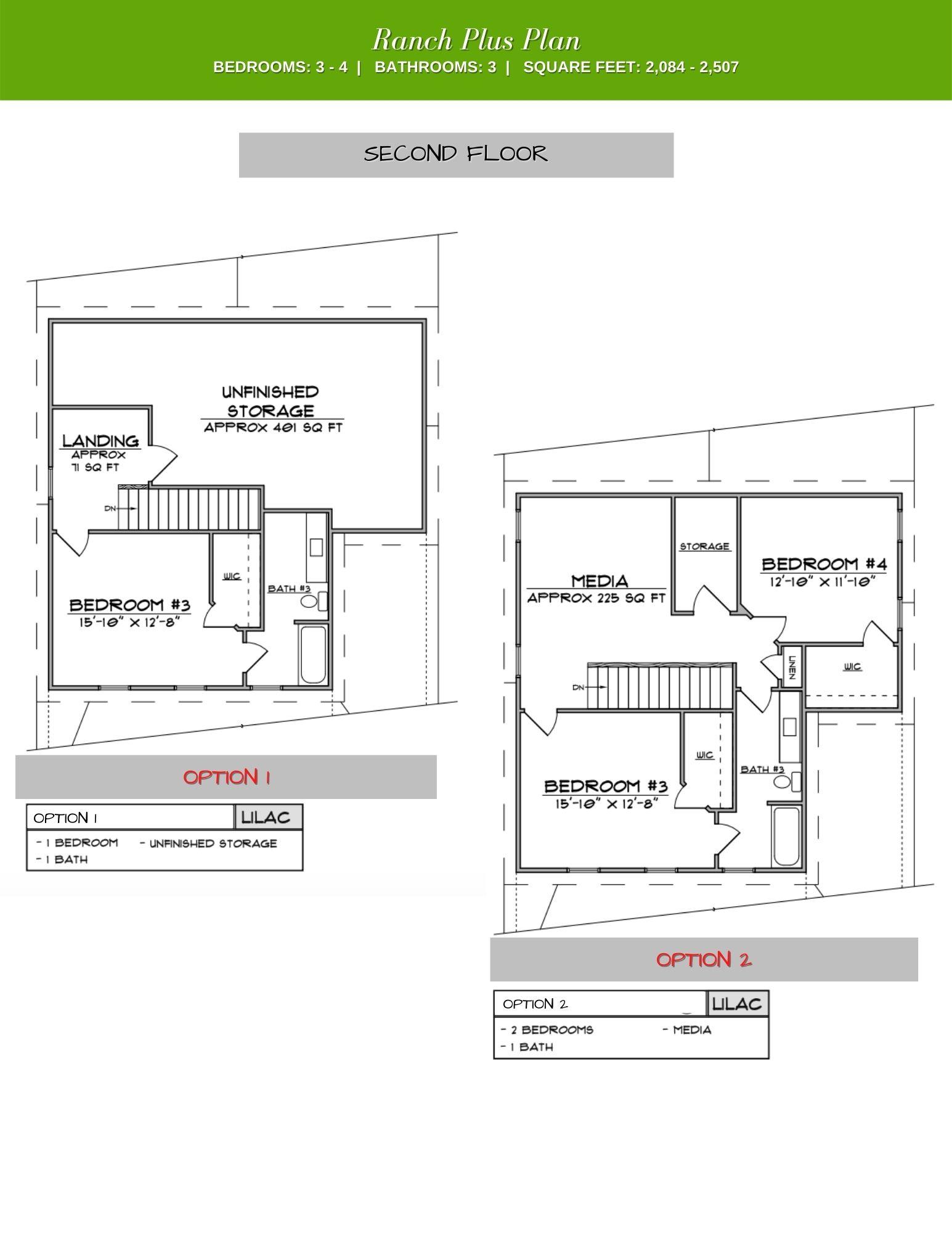 Lilac 2nd Floor Plan