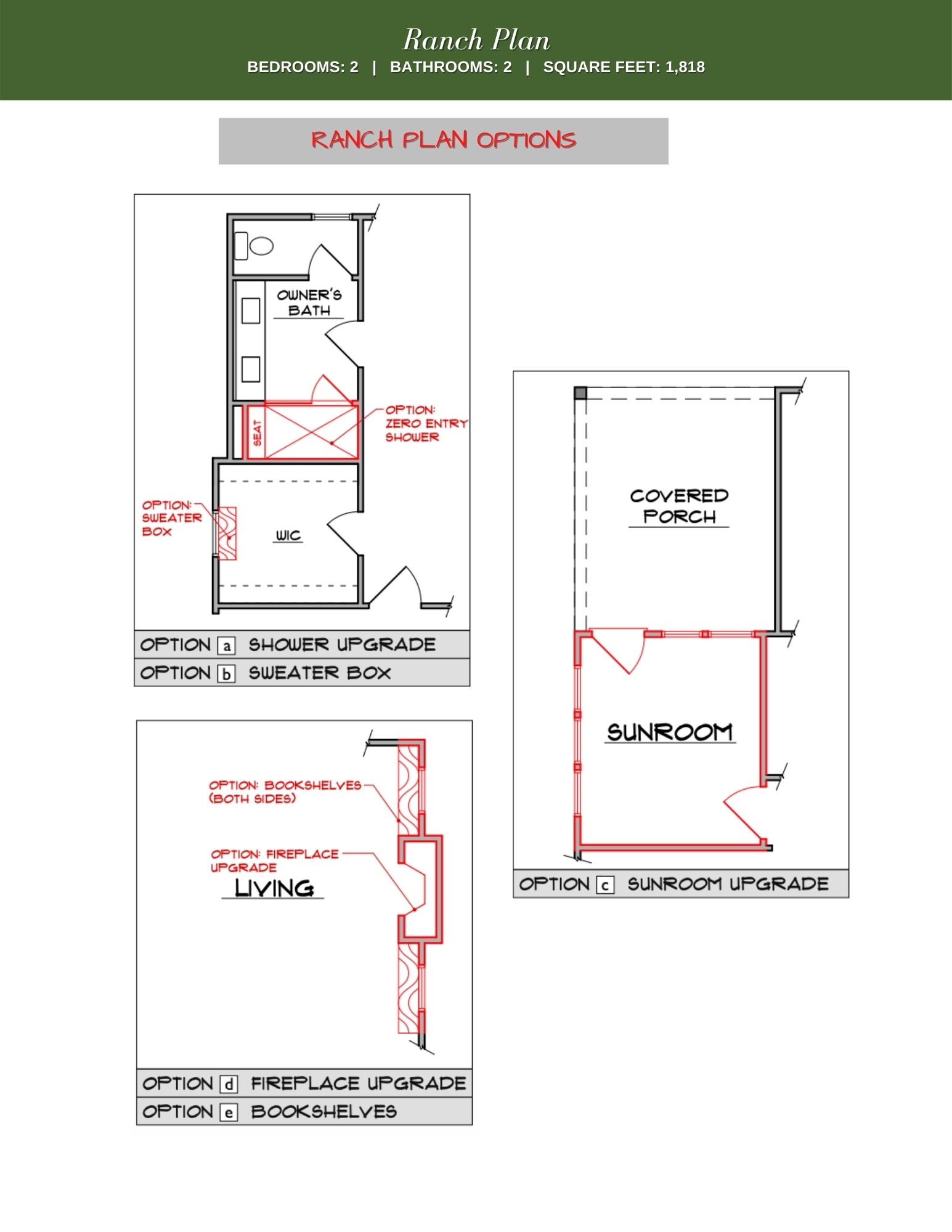 Maple Floor Plan Options