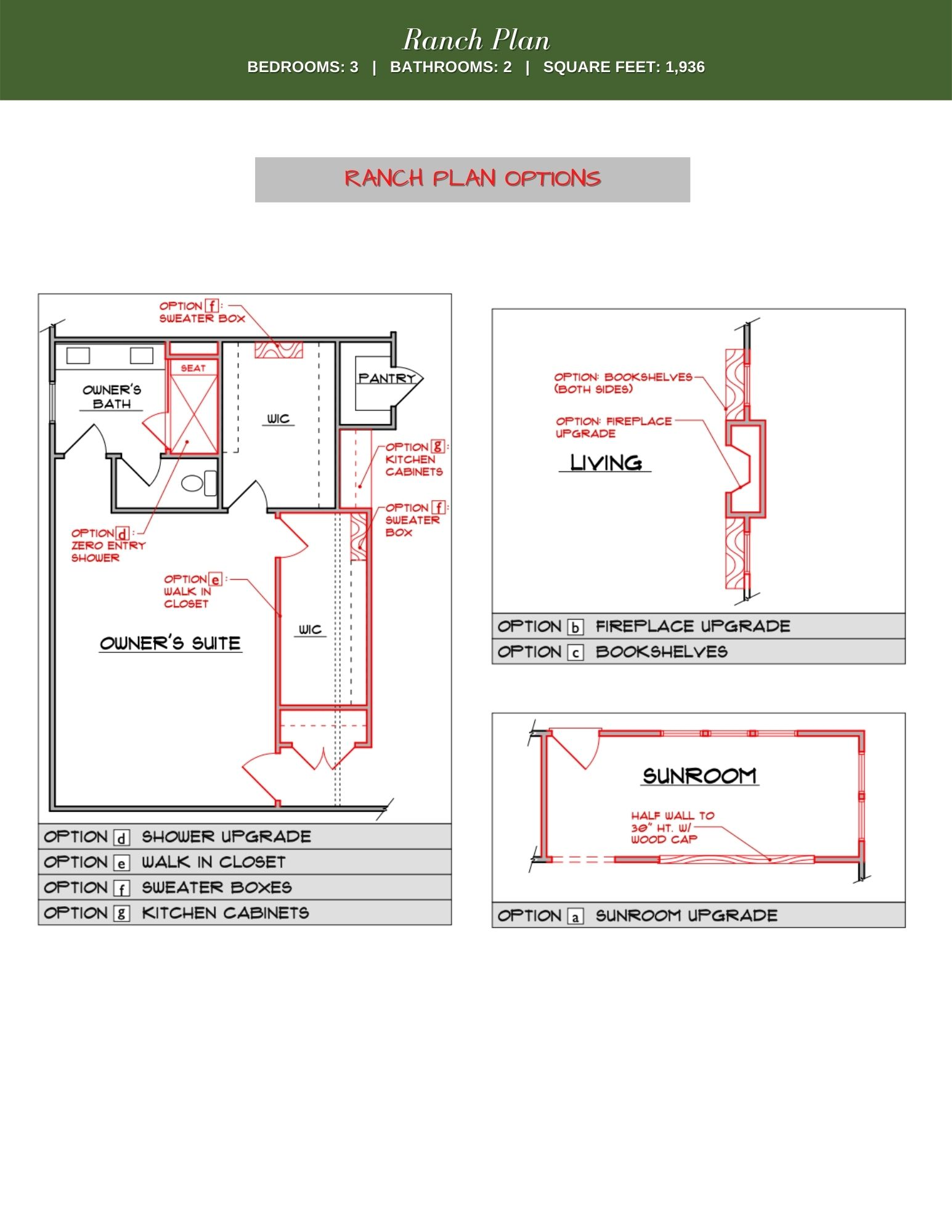 Poplar Floor Plan Options