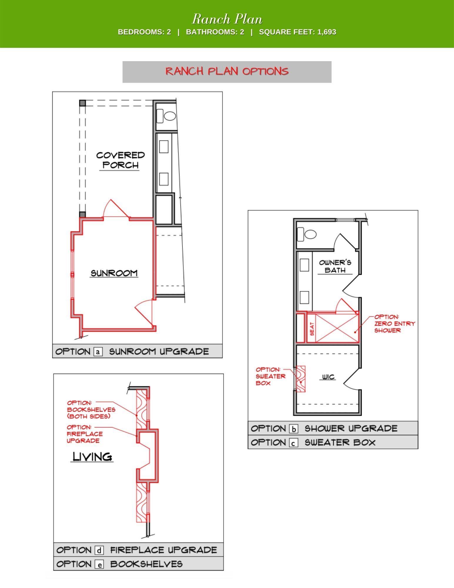 Redbud Plan Options