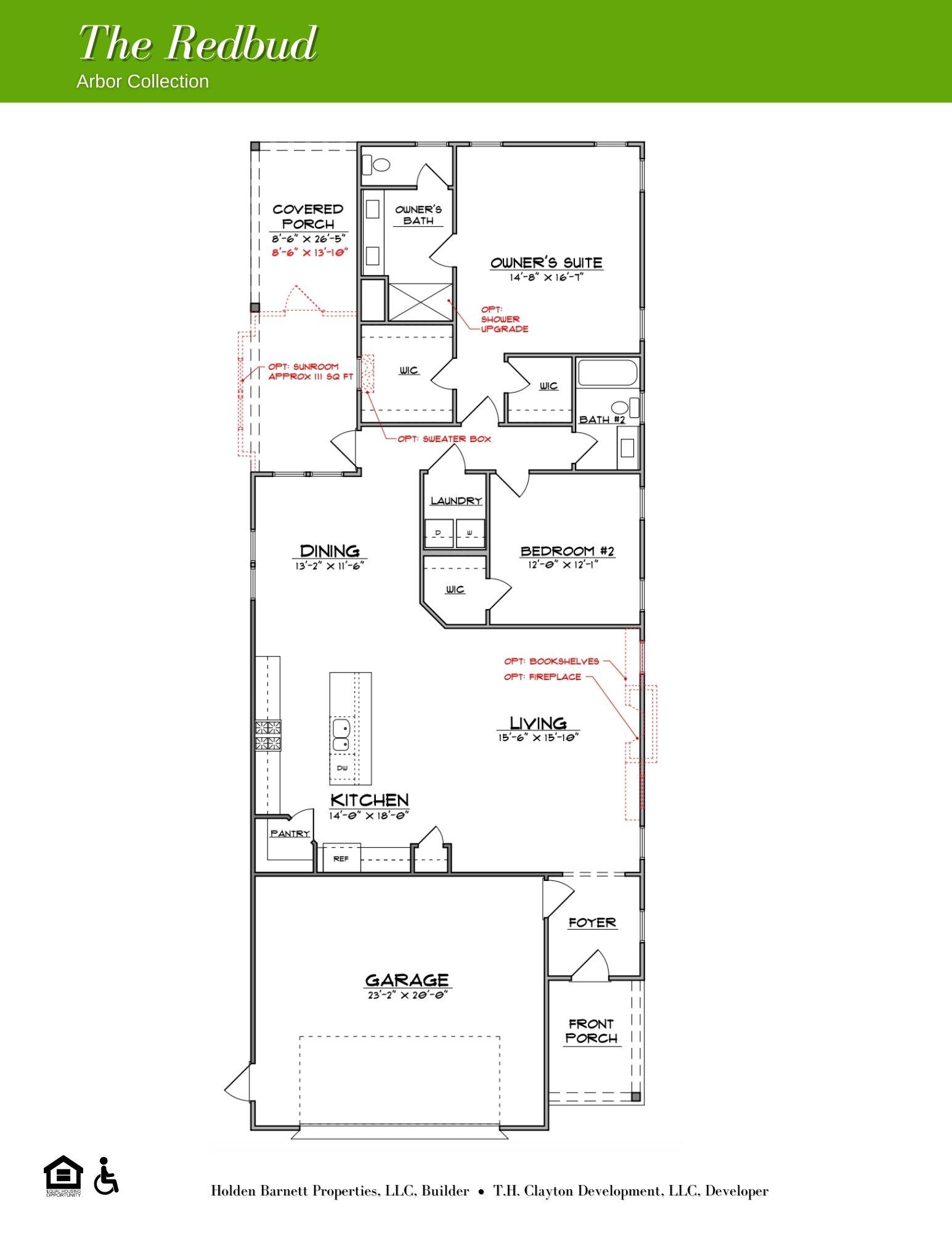 The Redbud First Floor Floorplan