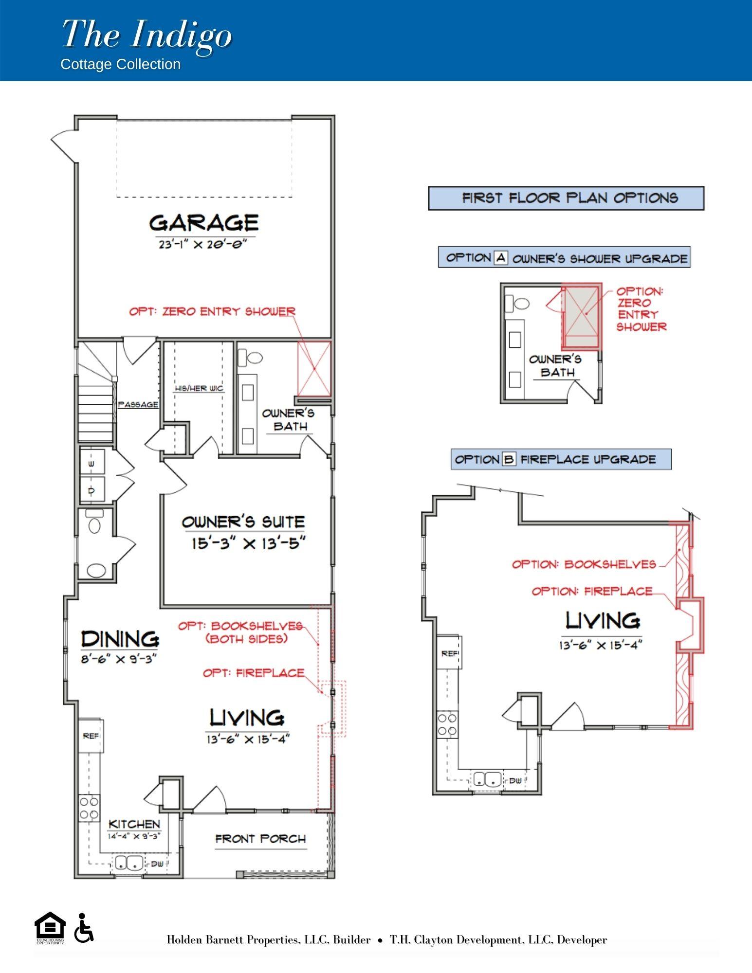 The Indigo First Floor Floorplan Options
