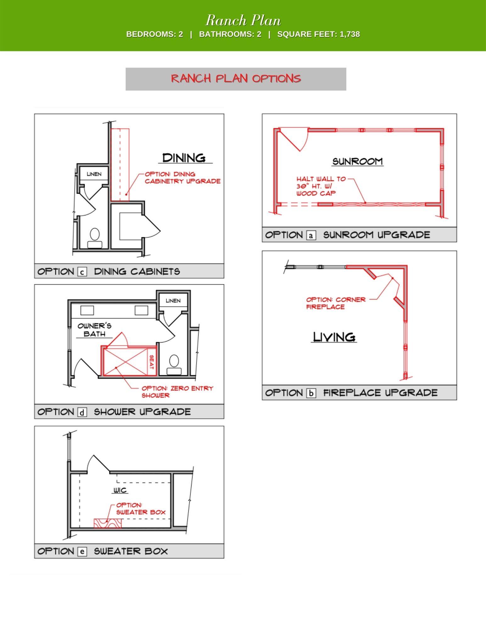 Wisteria Floor Plan Options