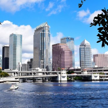 Tampa skyline from across the water