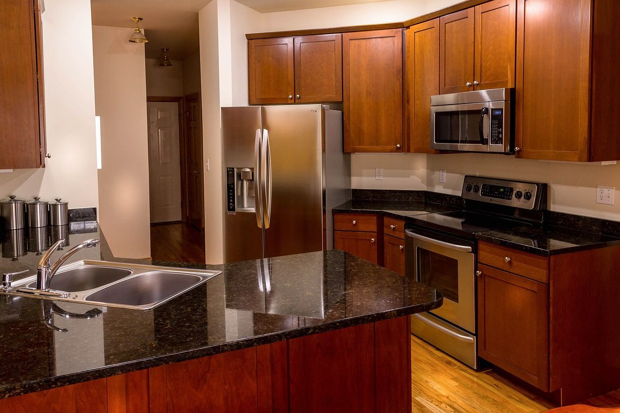 gourmet kitchen in northwyck home for sale