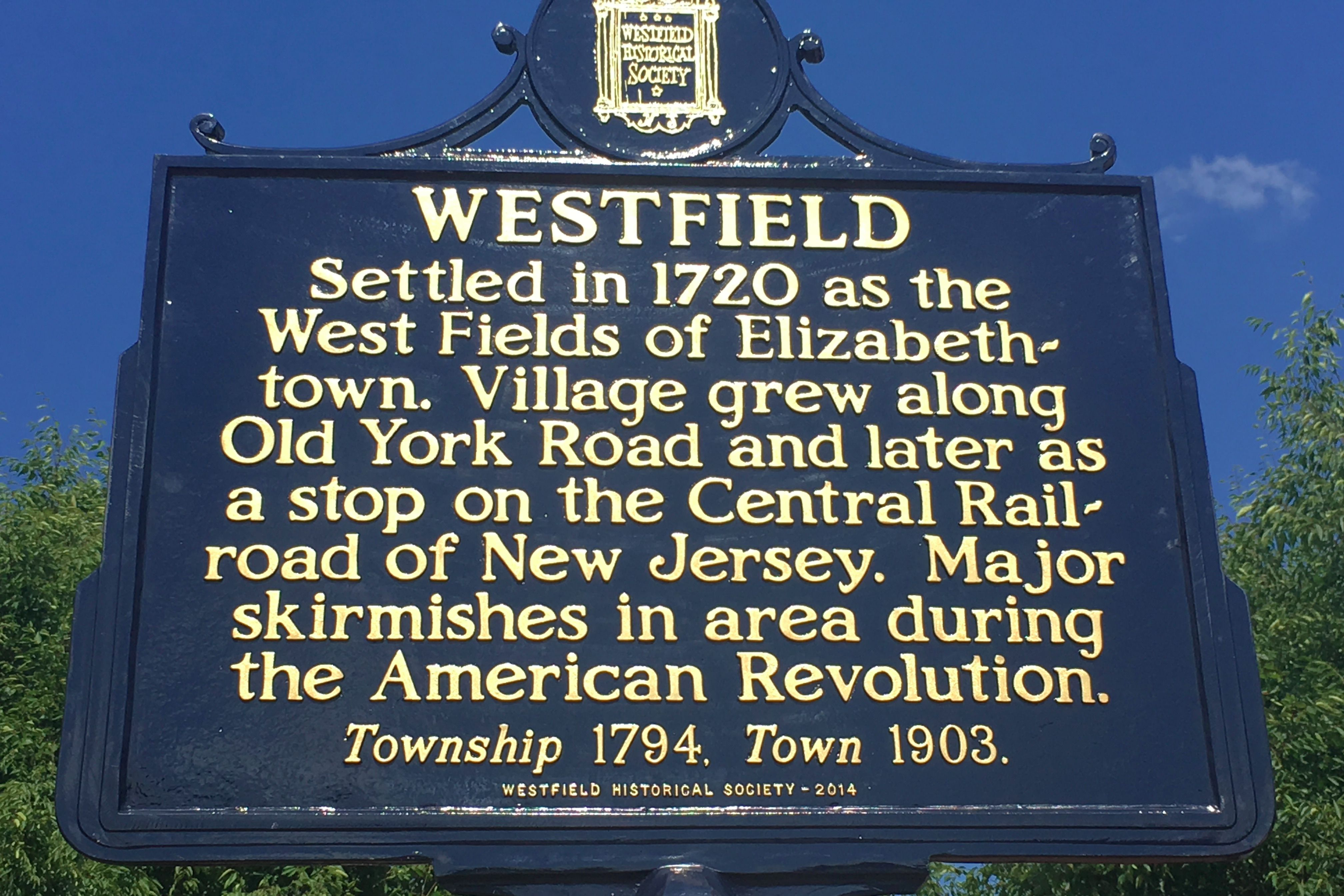 westfield historic sign
