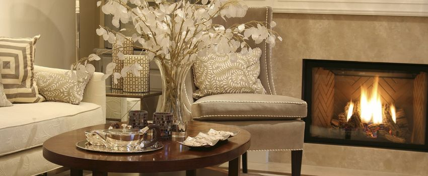 beautifully staged living room in westfield