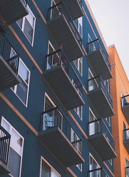 photo of luxury apartment balconies